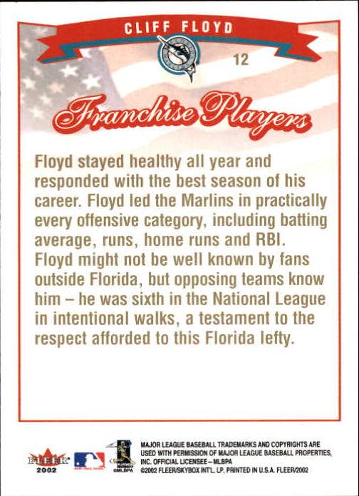 2002-Fleer-Oro-Espaldas-Beisbol-Tarjeta-Recoger miniatura 3