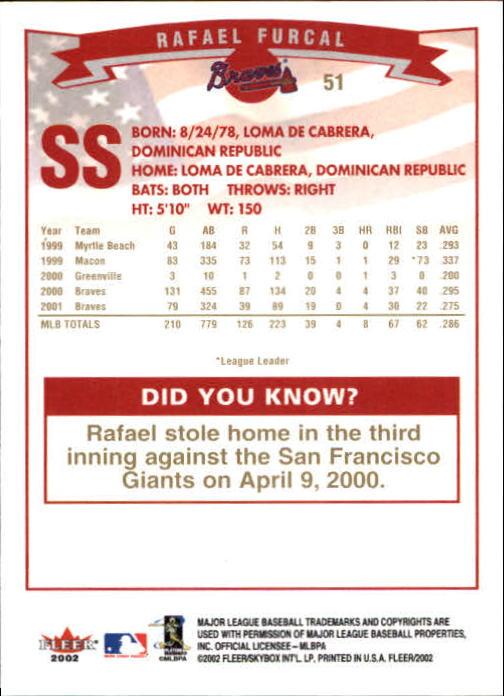 2002-Fleer-Oro-Espaldas-Beisbol-Tarjeta-Recoger miniatura 29