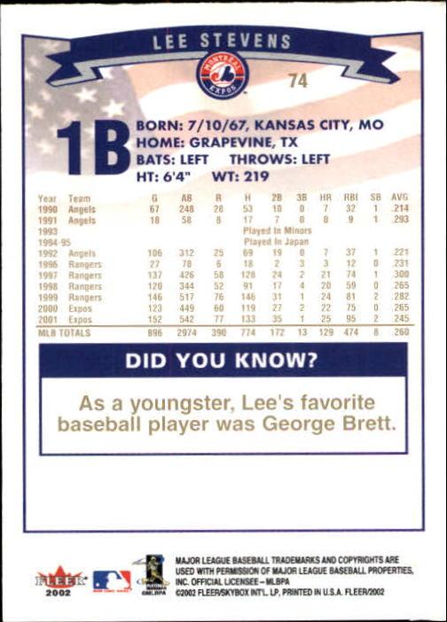 2002-Fleer-Oro-Espaldas-Beisbol-Tarjeta-Recoger miniatura 45