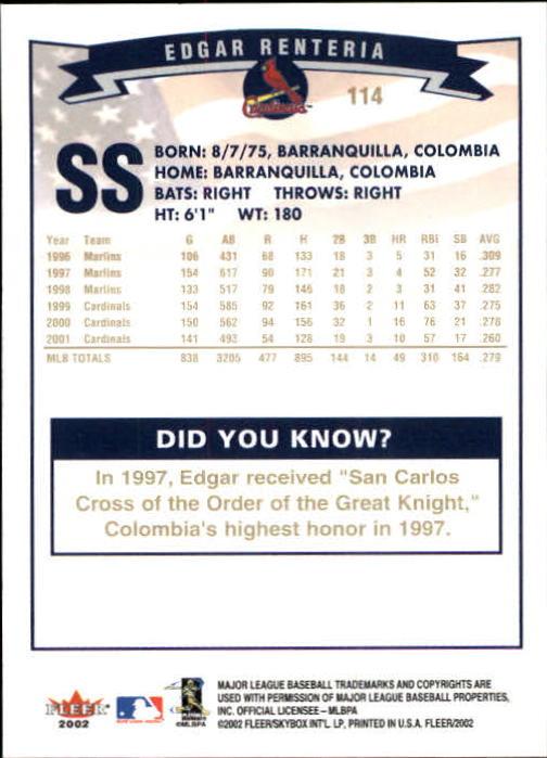 2002-Fleer-Oro-Espaldas-Beisbol-Tarjeta-Recoger miniatura 67