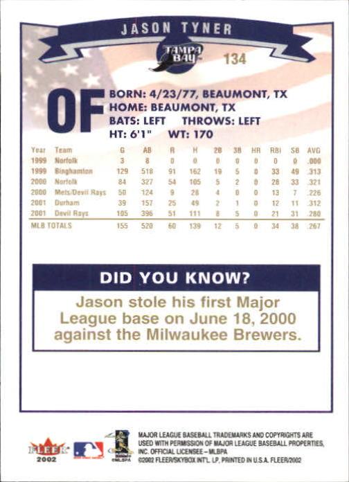 2002-Fleer-Oro-Espaldas-Beisbol-Tarjeta-Recoger miniatura 87