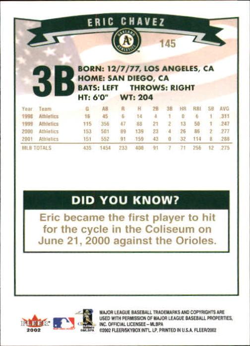 2002-Fleer-Oro-Espaldas-Beisbol-Tarjeta-Recoger miniatura 89