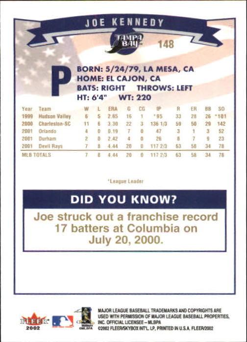 2002-Fleer-Oro-Espaldas-Beisbol-Tarjeta-Recoger miniatura 91