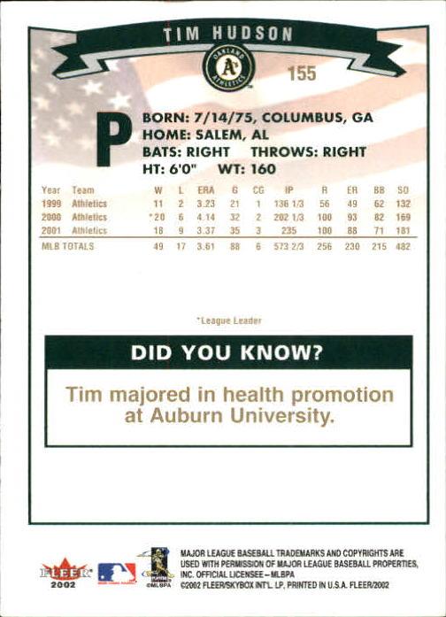 2002-Fleer-Oro-Espaldas-Beisbol-Tarjeta-Recoger miniatura 97