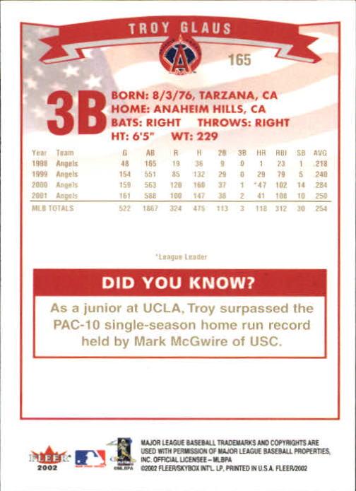 2002-Fleer-Oro-Espaldas-Beisbol-Tarjeta-Recoger miniatura 109