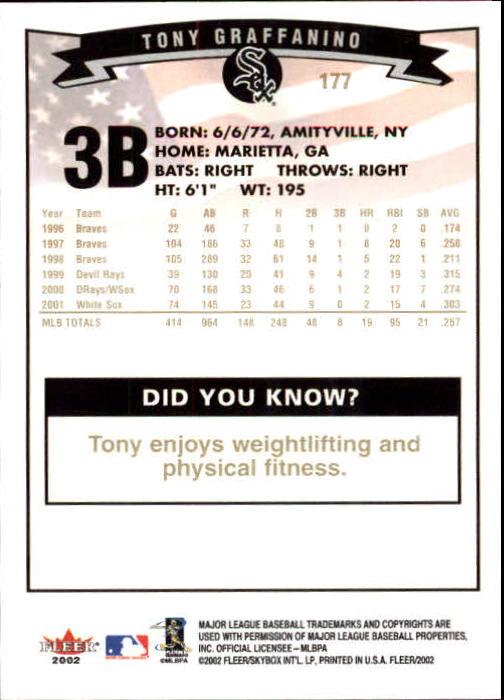 2002-Fleer-Oro-Espaldas-Beisbol-Tarjeta-Recoger miniatura 117
