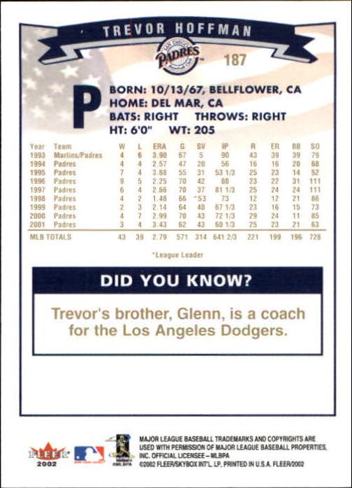 2002-Fleer-Oro-Espaldas-Beisbol-Tarjeta-Recoger miniatura 123