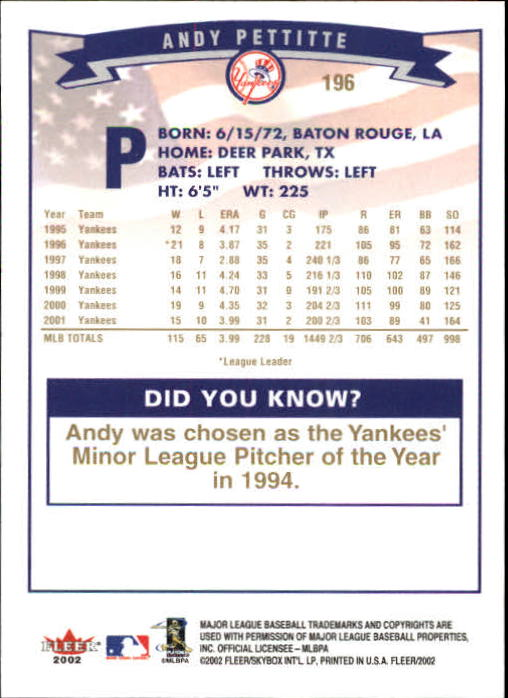 2002-Fleer-Oro-Espaldas-Beisbol-Tarjeta-Recoger miniatura 135