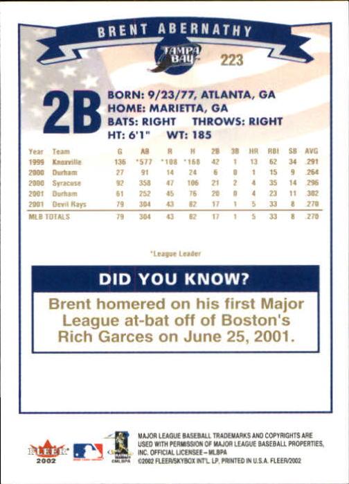 2002-Fleer-Oro-Espaldas-Beisbol-Tarjeta-Recoger miniatura 153