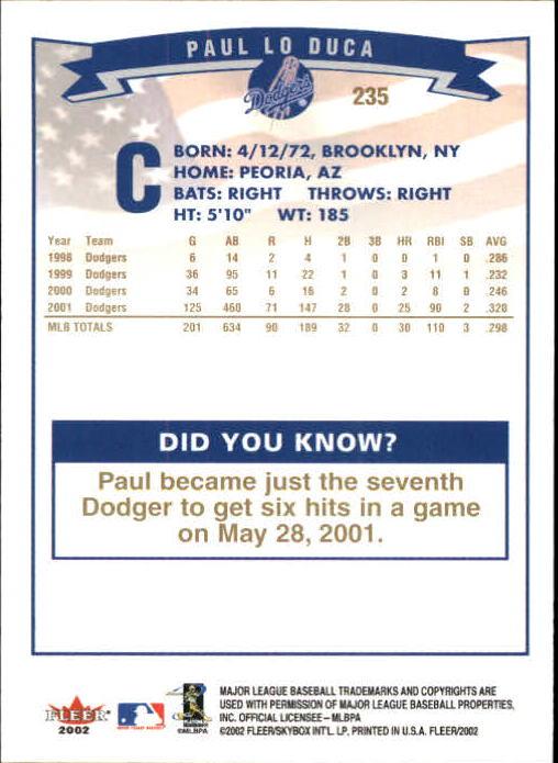 2002-Fleer-Oro-Espaldas-Beisbol-Tarjeta-Recoger miniatura 165