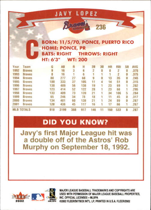 2002-Fleer-Oro-Espaldas-Beisbol-Tarjeta-Recoger miniatura 167