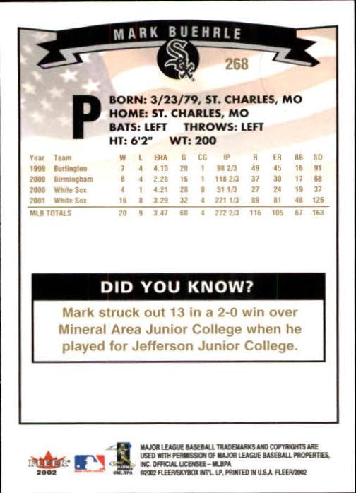 2002-Fleer-Oro-Espaldas-Beisbol-Tarjeta-Recoger miniatura 191