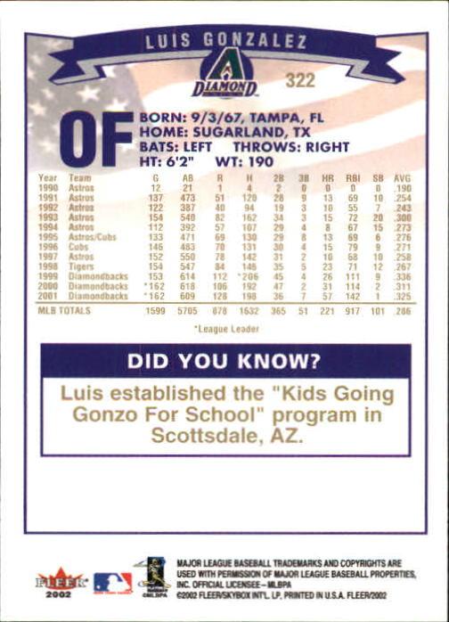 2002-Fleer-Oro-Espaldas-Beisbol-Tarjeta-Recoger miniatura 209
