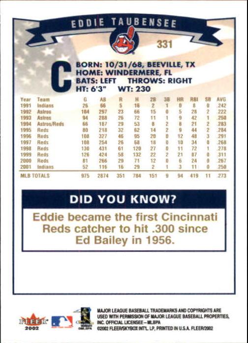 2002-Fleer-Oro-Espaldas-Beisbol-Tarjeta-Recoger miniatura 219