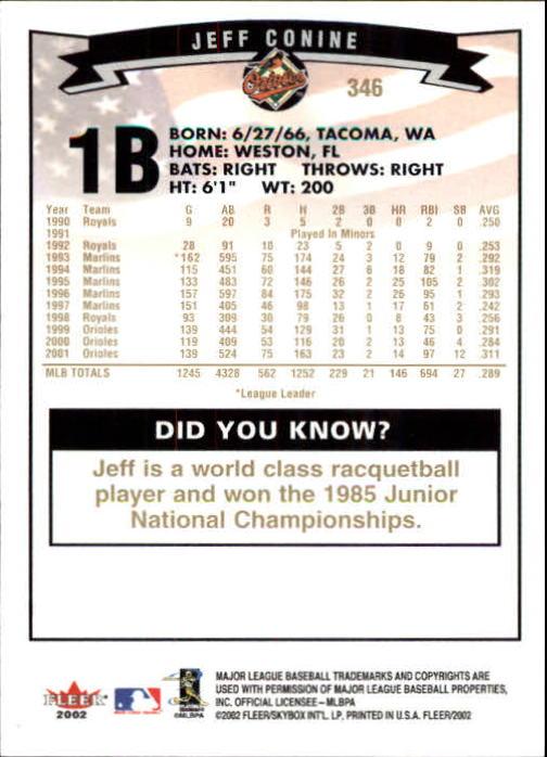 2002-Fleer-Oro-Espaldas-Beisbol-Tarjeta-Recoger miniatura 227