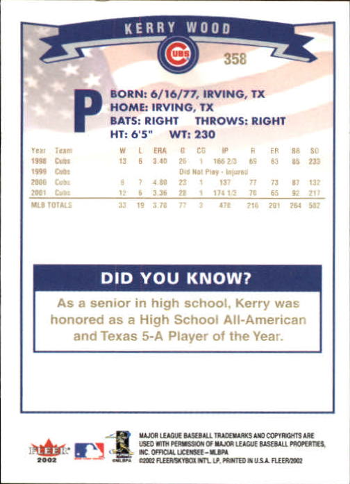 2002-Fleer-Oro-Espaldas-Beisbol-Tarjeta-Recoger miniatura 233