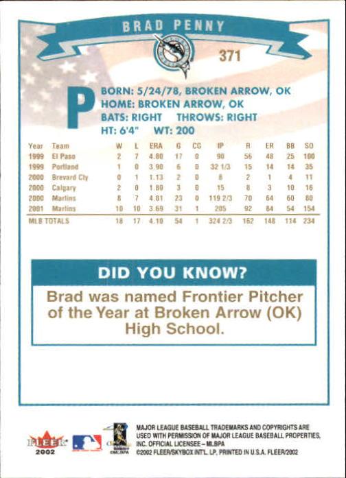 2002-Fleer-Oro-Espaldas-Beisbol-Tarjeta-Recoger miniatura 241
