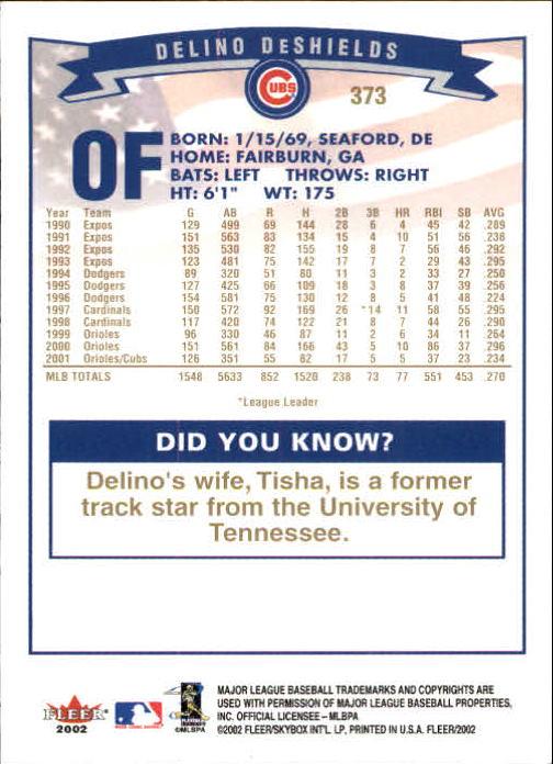 2002-Fleer-Oro-Espaldas-Beisbol-Tarjeta-Recoger miniatura 243