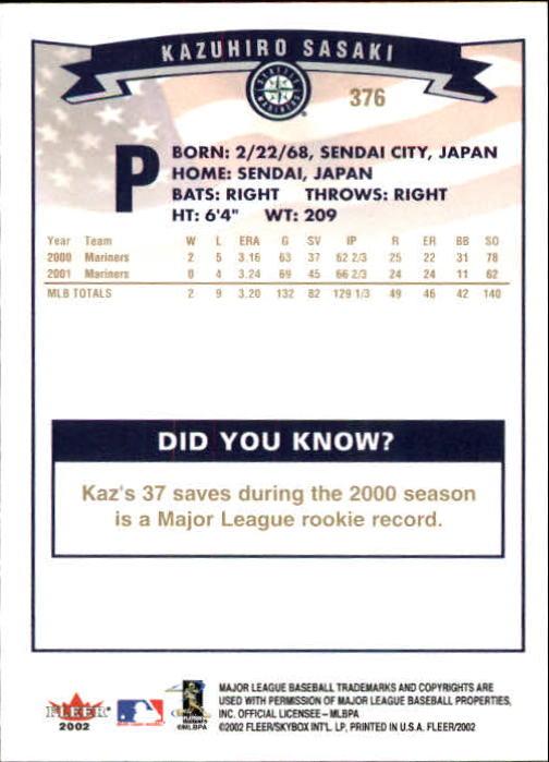 2002-Fleer-Oro-Espaldas-Beisbol-Tarjeta-Recoger miniatura 245