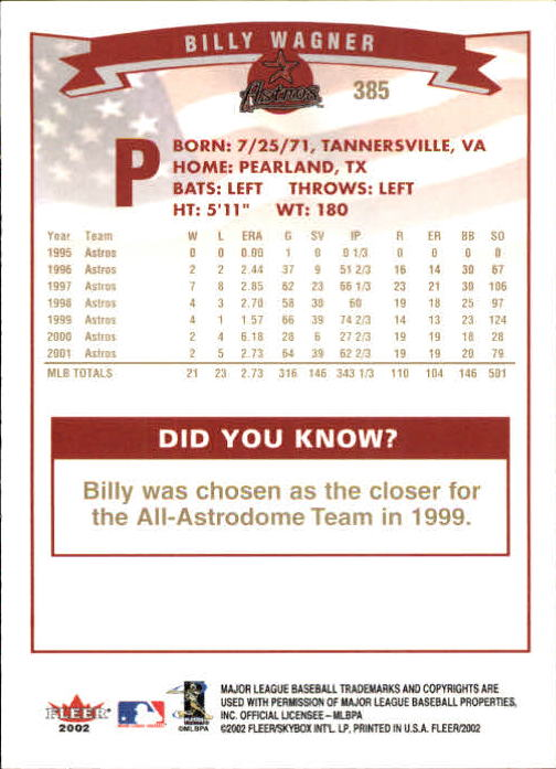 2002-Fleer-Oro-Espaldas-Beisbol-Tarjeta-Recoger miniatura 253