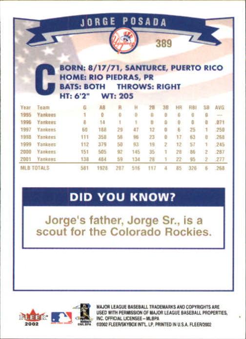 2002-Fleer-Oro-Espaldas-Beisbol-Tarjeta-Recoger miniatura 255