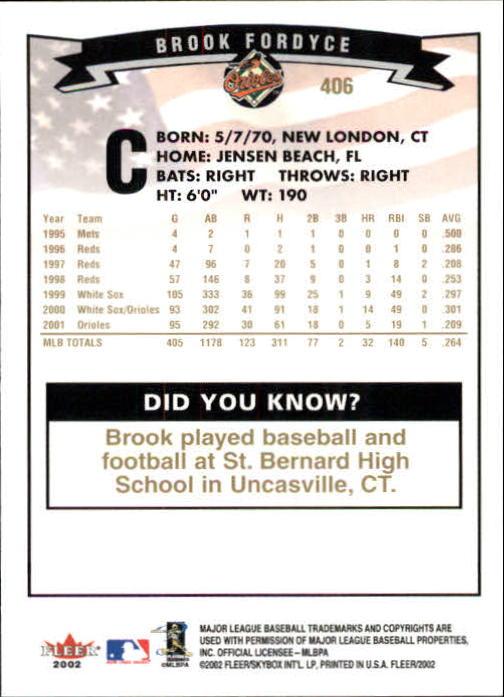 2002-Fleer-Oro-Espaldas-Beisbol-Tarjeta-Recoger miniatura 269
