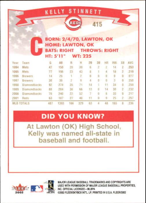 2002-Fleer-Oro-Espaldas-Beisbol-Tarjeta-Recoger miniatura 273