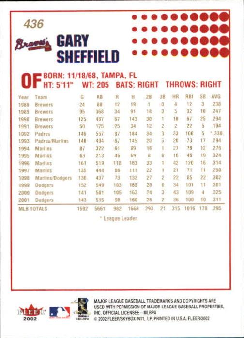 2002-Fleer-Oro-Espaldas-Beisbol-Tarjeta-Recoger miniatura 289