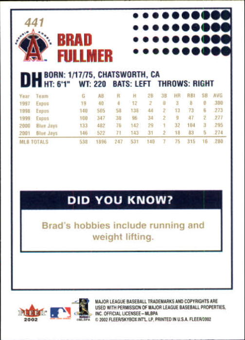 2002-Fleer-Oro-Espaldas-Beisbol-Tarjeta-Recoger miniatura 291