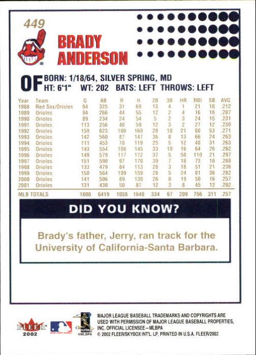 2002-Fleer-Oro-Espaldas-Beisbol-Tarjeta-Recoger miniatura 295