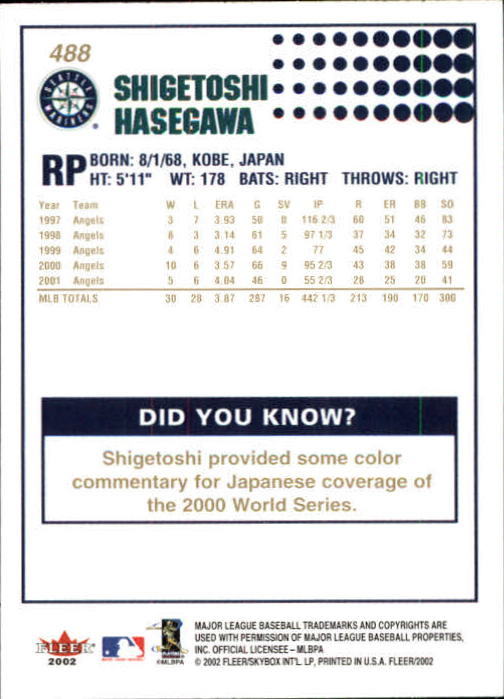 2002-Fleer-Oro-Espaldas-Beisbol-Tarjeta-Recoger miniatura 305