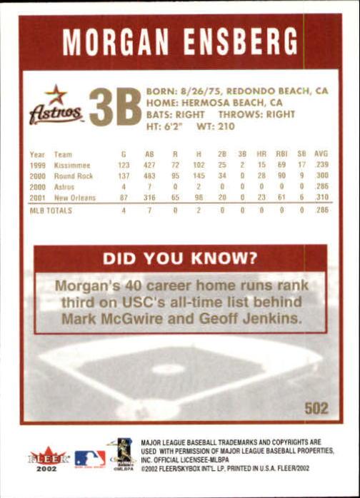 2002-Fleer-Oro-Espaldas-Beisbol-Tarjeta-Recoger miniatura 309