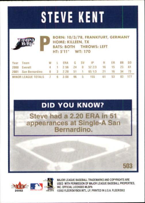 2002-Fleer-Oro-Espaldas-Beisbol-Tarjeta-Recoger miniatura 311