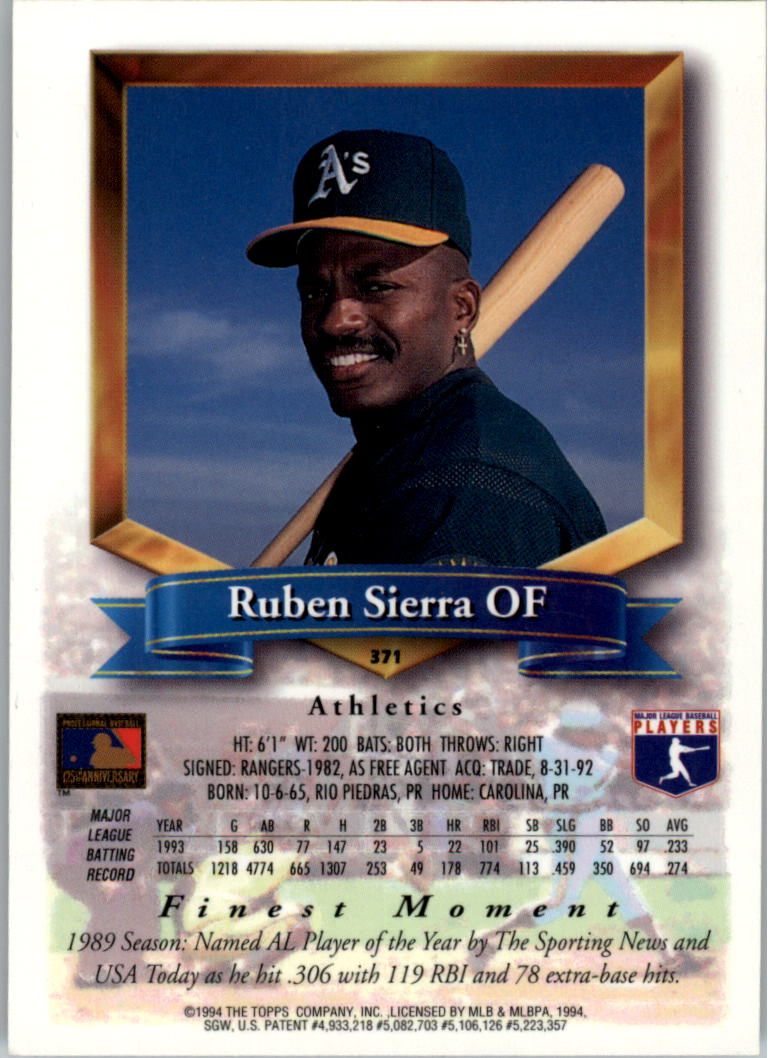 1994-Mejores-Beisbol-Tarjeta-Recoger miniatura 217