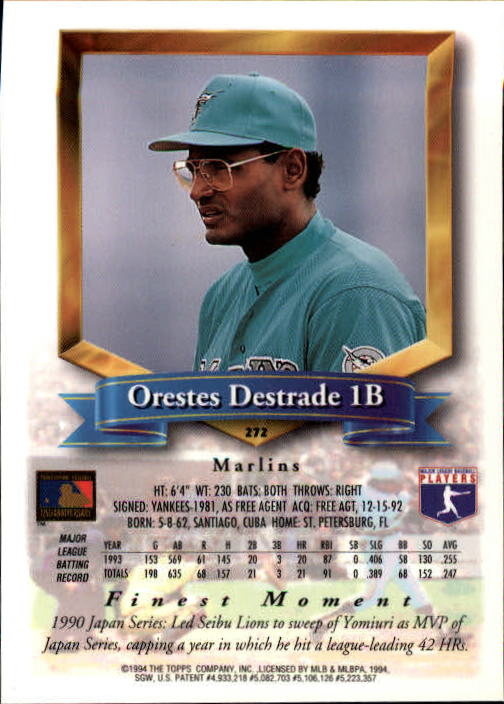1994-Mejores-Beisbol-Tarjeta-Recoger miniatura 37