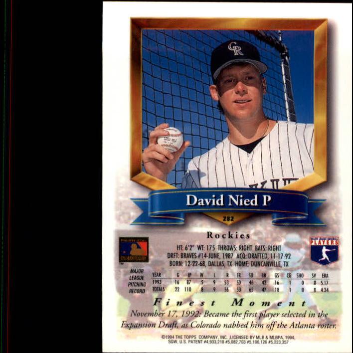 1994-Mejores-Beisbol-Tarjeta-Recoger miniatura 53