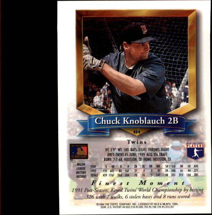 1994-Mejores-Beisbol-Tarjeta-Recoger miniatura 131
