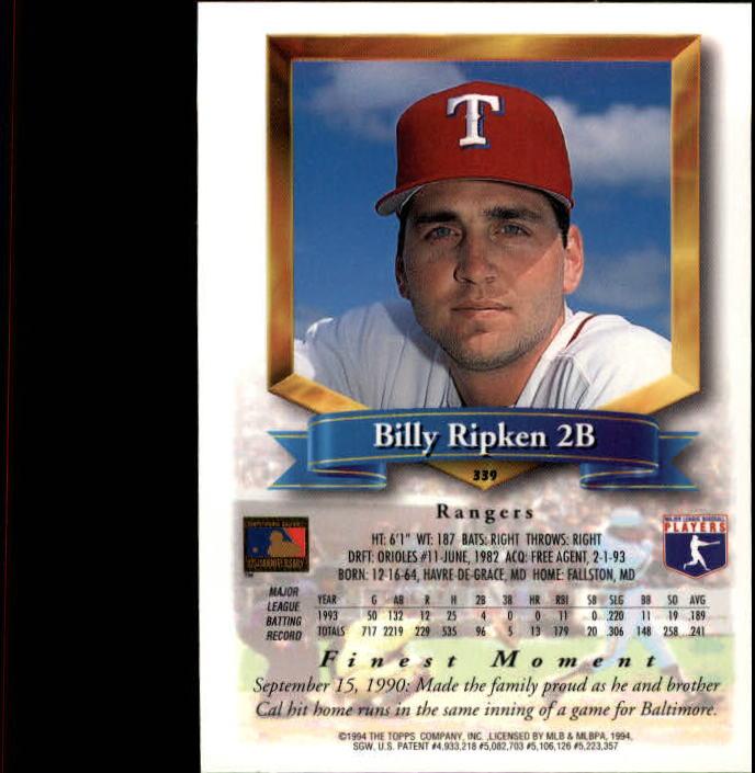 1994-Mejores-Beisbol-Tarjeta-Recoger miniatura 161