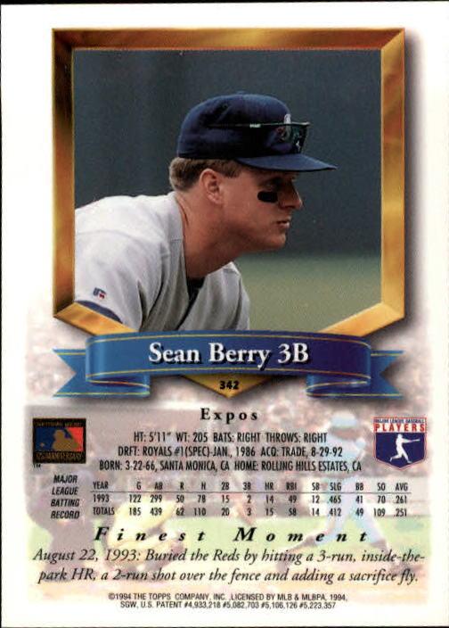 1994-Mejores-Beisbol-Tarjeta-Recoger miniatura 167