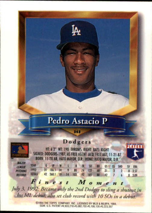 1994-Mejores-Beisbol-Tarjeta-Recoger miniatura 169