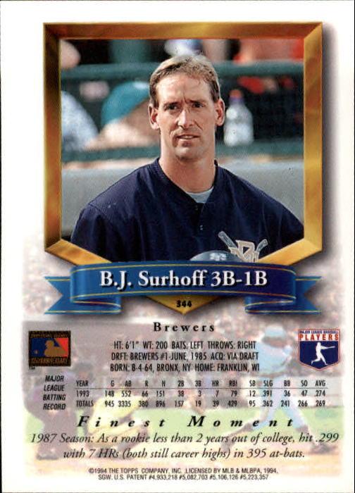 1994-Mejores-Beisbol-Tarjeta-Recoger miniatura 171