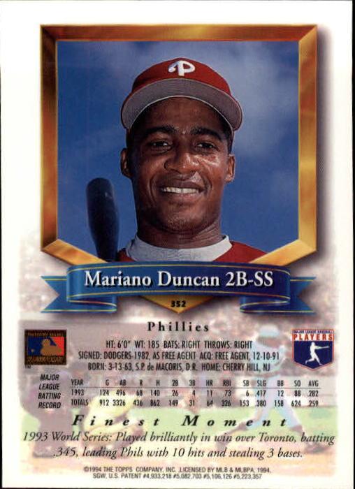 1994-Mejores-Beisbol-Tarjeta-Recoger miniatura 187