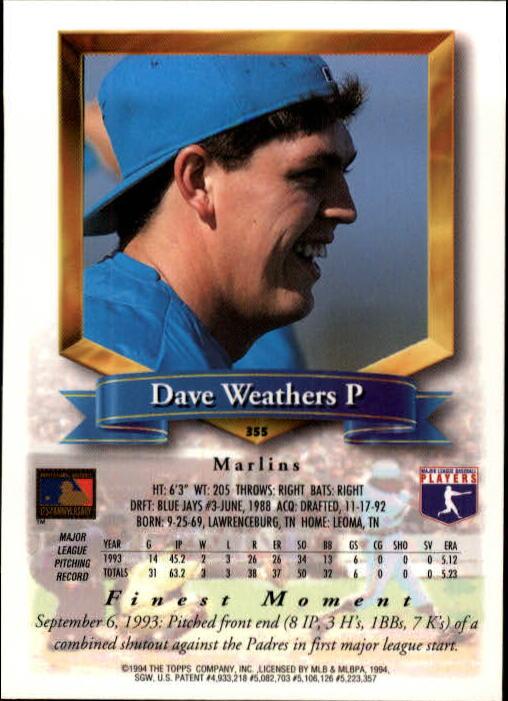 1994-Mejores-Beisbol-Tarjeta-Recoger miniatura 193