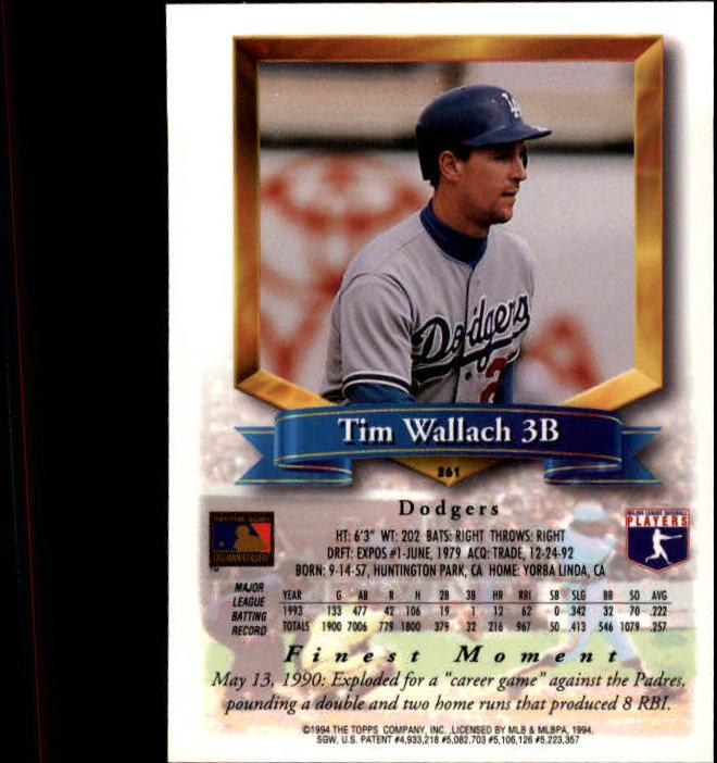 1994-Mejores-Beisbol-Tarjeta-Recoger miniatura 205