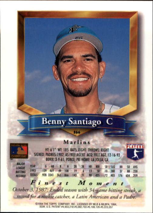 1994-Mejores-Beisbol-Tarjeta-Recoger miniatura 213