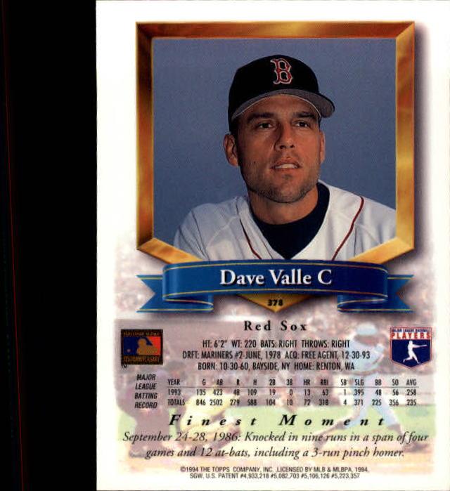 1994-Mejores-Beisbol-Tarjeta-Recoger miniatura 227