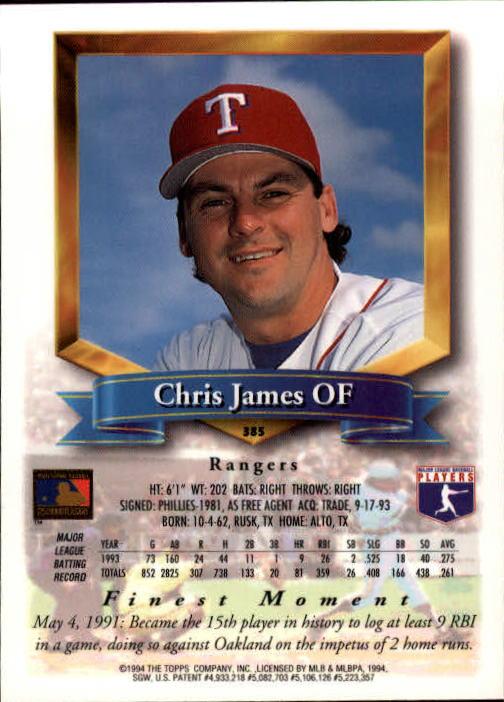 1994-Mejores-Beisbol-Tarjeta-Recoger miniatura 241