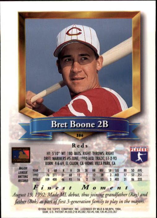1994-Mejores-Beisbol-Tarjeta-Recoger miniatura 243