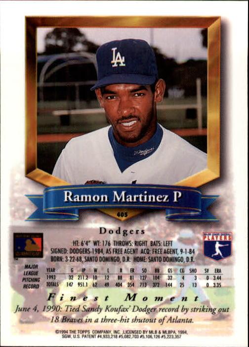 1994-Mejores-Beisbol-Tarjeta-Recoger miniatura 273
