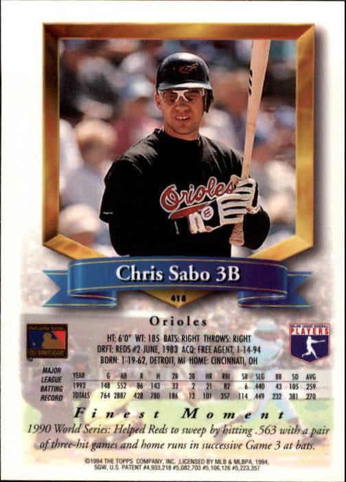 1994-Mejores-Beisbol-Tarjeta-Recoger miniatura 293